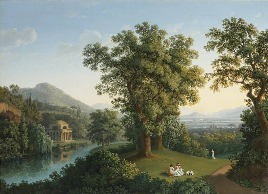 River Landscape with Elements of the English Garden at Caserta