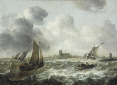River Scene with Dordrecht in the Distance