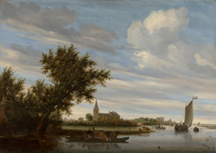 River View with Church and Ferry