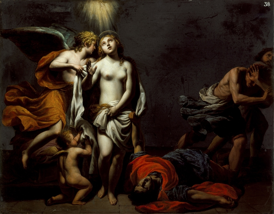Saint Agnes Protected by an Angel