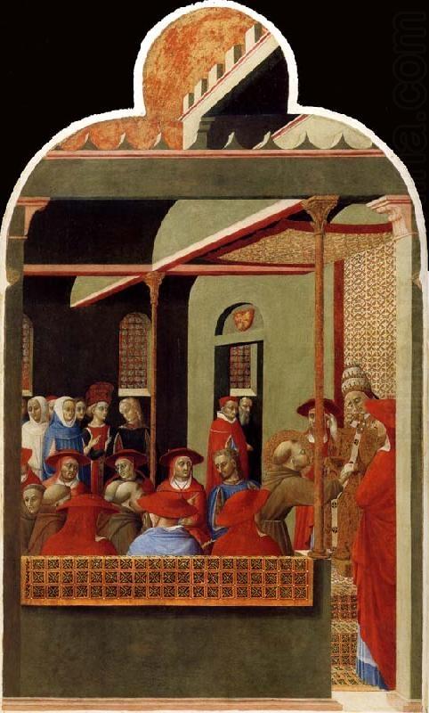 Saint Francis before Pope Honorius III