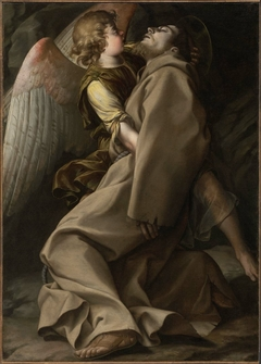 Saint Francis Supported by an Angel