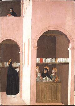 Saint Thomas Aquinas Aided by Saints Peter and Paul