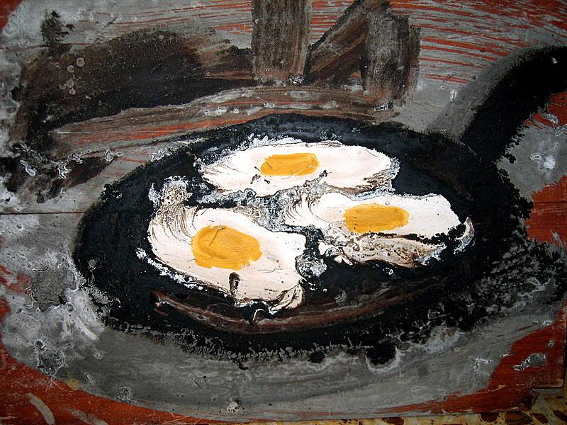 sarten con huevos
