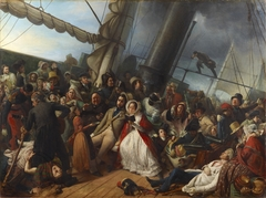 Seasickness at the Ball, on Board an English Corvette