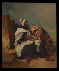 Seated Arab Man with Horse