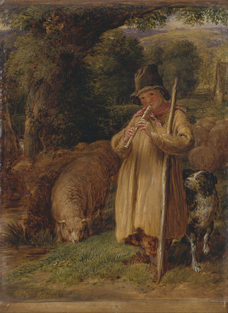 Shepherd Boy Playing a Flute