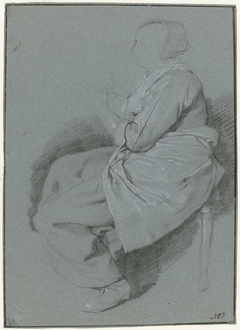 Sitting Woman with Apron