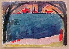 Sketch for Hudson River Painting
