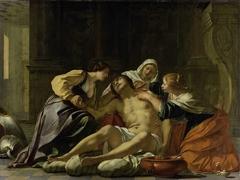 St Sebastian Nursed by Irene and her Helpers