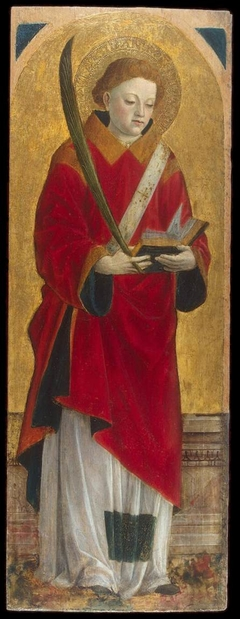 St Stephen (wing of a polyptych)