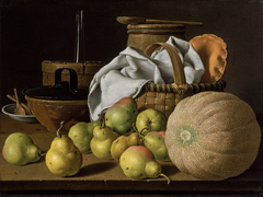 Still Life with Melon and Pears