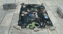 Street art: the death of mom grasshopper