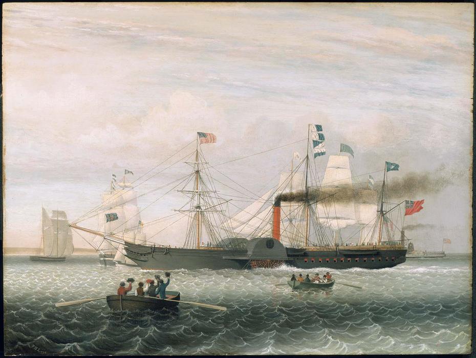 The Britannia Entering Boston Harbor