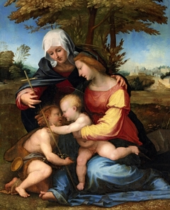 The Madonna and Child in a landscape with Saint Elizabeth and the Infant Saint John the Baptist