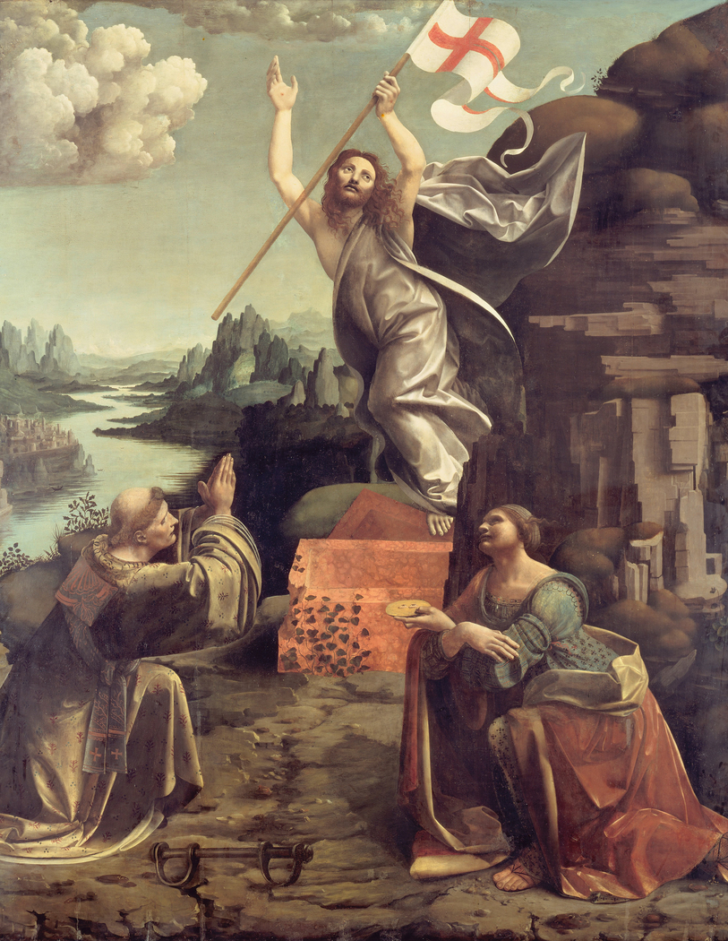 The Resurrection of Christ with SS. Leonard of Noblac and Lucia
