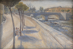 The River Liri, Italy