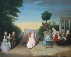 The Schutz Family and their Friends on a Terrace