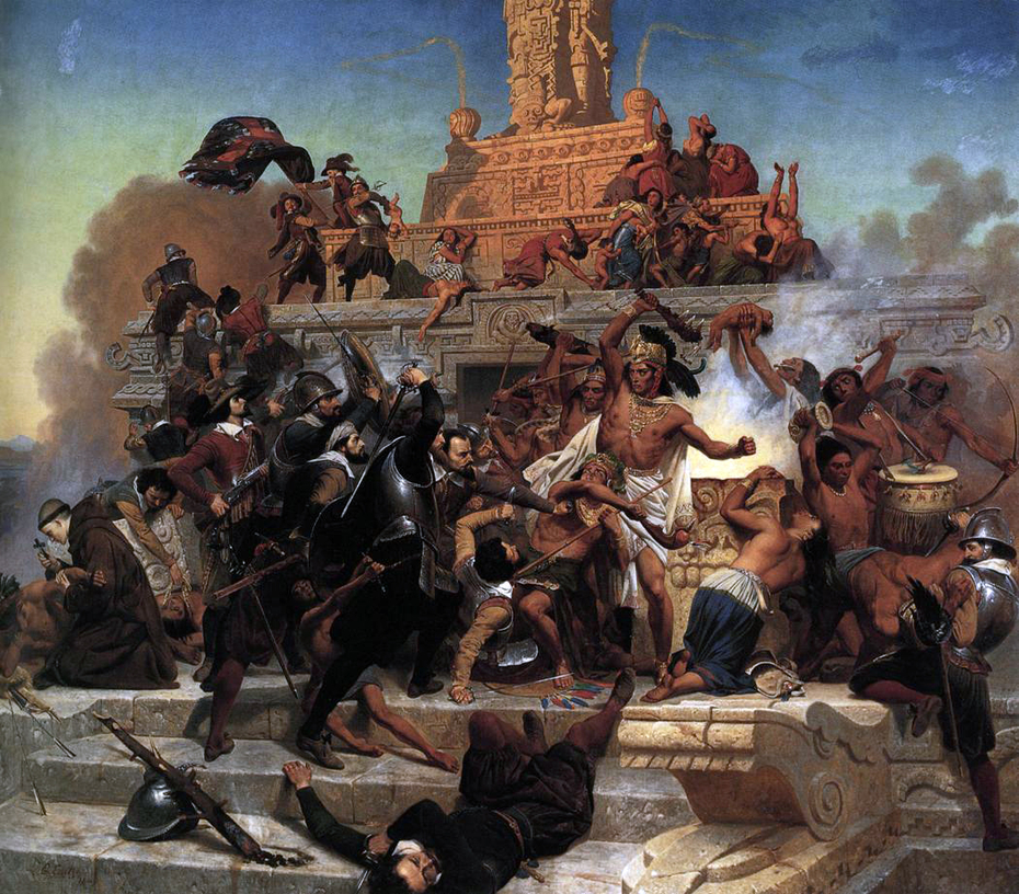 The Storming of Teocalli by Cortez and his Troops