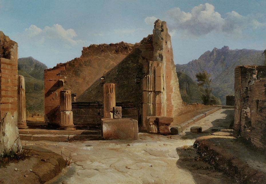 The Triangular forum in Pompeii