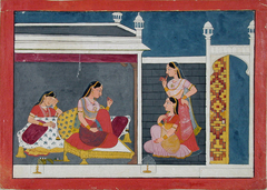 Three women in conversation