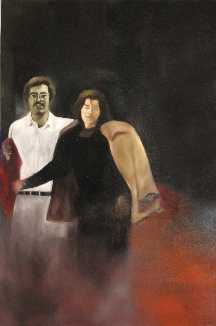 Titika and Zelos                                              (Oil on canvas  150 x100 cm)