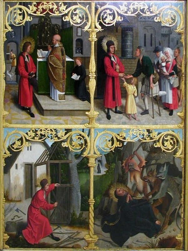 Triptych: Scenes from the Lives of St. Antonius and Paulus