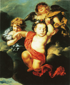 Two Angels Bearing a Dead Infant up to Heaven - c. 1675