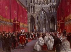 Kong Carl XV`s kroning i Trondheims domkirke 1860