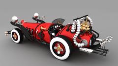 V20 Classic vintage stylish yet Elegant Car modelling By GameYan game development companies