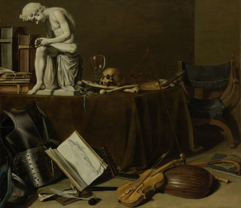 Vanitas Still Life with the Spinario
