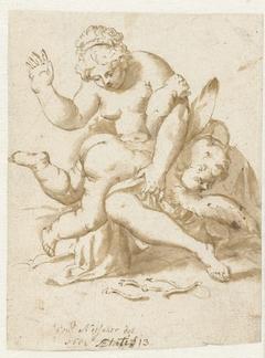 Venus kastijdt Amor