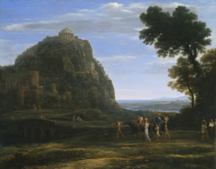 View of Delphi with a Procession