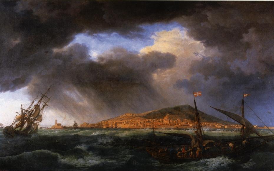 View of Sète Harbor