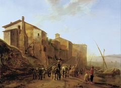View of the Ripa Grande in Rome