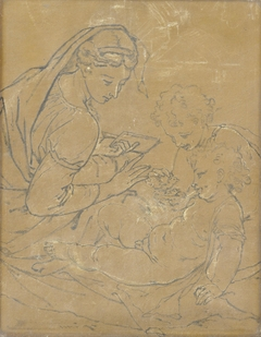 Virgin and Child with Saint John (chalk sketch)
