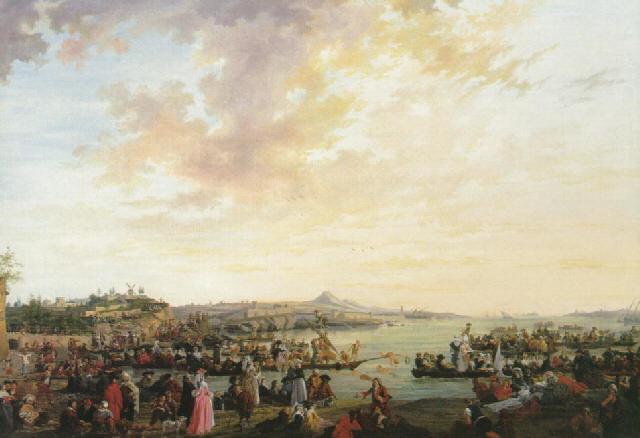 Vue de Marseille : Joute et fête sur l'eau