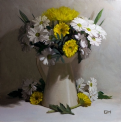 White gold bouquet