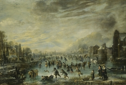 Winter Landscape with Skaters,