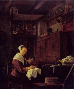 Woman at Her Sewing Table