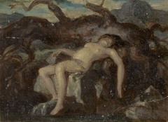 Woman Sleeping in the Nude in a Wooded Landscape