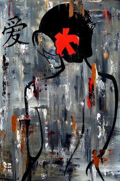 Zen Bath - Original Abstract painting Modern pop Art Contemporary NUDE by Fidostudio